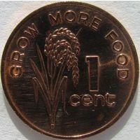 Фиджи 1 цент 1981 KM#39 ФАО холдер