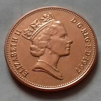 2 пенса, Великобритания 1997 г., AU