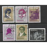Композитор Л. Бетховен Албания 1970 год серия из 6 марок
