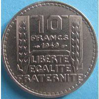 1k Франция 10 франков 1949 малая голова В ХОЛДЕРЕ распродажа коллекции