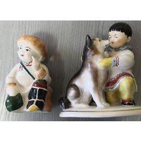 Мальчик якут с собакой. И мальчик монгол.