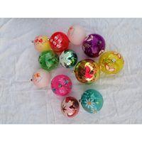 Ёлочные игрушки СССР, шары, больших размеров