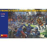 Французские пешие солдаты с таранами XV в. Mini Art 1/72