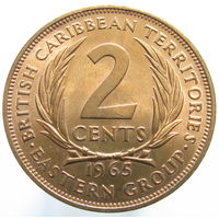 Бр. Карибские острова 2 цента 1965 (428)