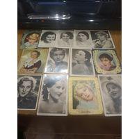 Коллекция старинных карточек 1930 годы