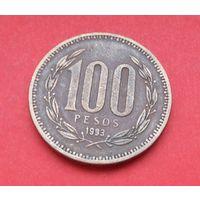 100 песо 1993 Чили