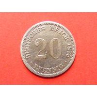 20 пфеннигов 1875 года мд Мюнхен
