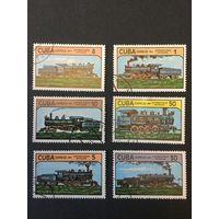 Локомотивы, Куба, 1984, серия 6 марок