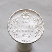 Британская Индия 1 рупия 1904 СЕРЕБРО