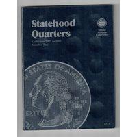 Альбом для квотеров США(штаты)2002-2005 года на 2 монетных двора P & D