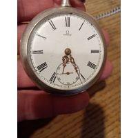 """Часы карманные """"OMEGA"""", рабочие. 5 см диаметр"""