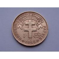 Французский Камерун. 1 франк 1943 год KM#6