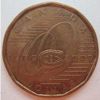 Канада 1 доллар 2009 г. 100 лет хоккейному клубу Монреаль Канадиенс