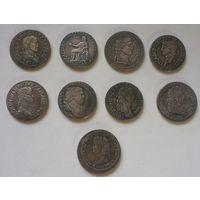 Копии серебряных монет древнего рима.