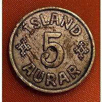 105-24 Исландия, 5 эйре 1940 г.