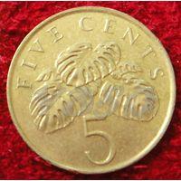 7522:  5 центов 1995 Сингапур
