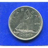 Канада 10 центов 1977