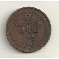 Швеция 2 эре 1902