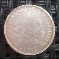 Франк 1916 года. Серебро