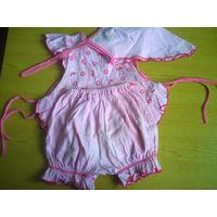 Летний костюмчик на девочку 1-2,5 года
