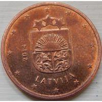 Латвия 5 евро центов 2014 год