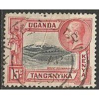 Кения Уганда и Танганьика. Король Георг V. Гора Килиманджаро. 1935г. Mi#34.
