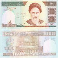 ИРАН 1000 риалов 1992-2014  ПРЕСС из пачки UNC