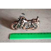 Винтажная коллекционная металлическая зажигалка (мотоцикл)