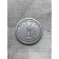 Того 2 франка 1948 г., алюминий, Супер редкость, сохран