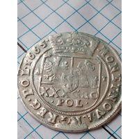 Красавец тымф 1665 года в редком для этих монет состоянии.