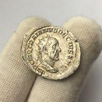 Траян Дэцый, антанініян 250 г. н. э., Рым. Штэмпельная манета!