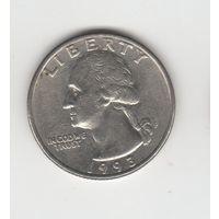 25 центов (квотер) США 1993 Р Лот 2938