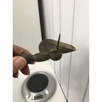 Часть старого подсвечника Латунь/бронза