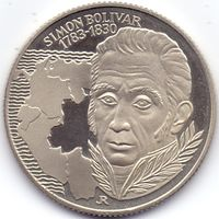 Венгрия, 100 форинтов 1983 года. 200 лет со дня рождения Симона Боливара.