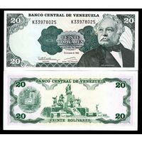 Венесуэла 20 боливаров образца 1992 года UNC p63d