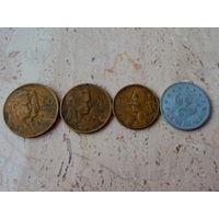 50 20 10 2 динаров / динара Югославия 4 монеты.