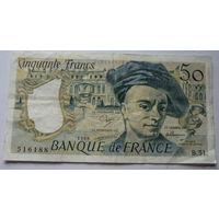 Франция. 50 франков 1988г.