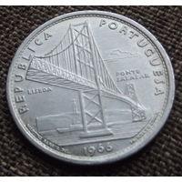 Португалия. 20 эскудо 1966 серебро