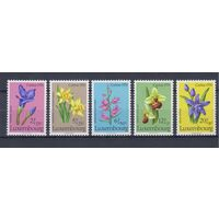 [1464] Люксембург 1976. Флора.Цветы.Орхидеи.