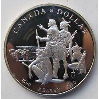 Канада 1 доллар 1990 300 лет путешествию Генри Келси