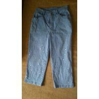 Капри джинсовые р.46