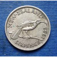 Новая Зеландия 6 пенсов 1952 Георг VI