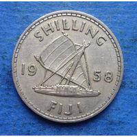 Фиджи Британская колония шиллинг 1958