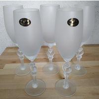 Фужеры, стекло матовое, 5 шт. (23,5 см.)