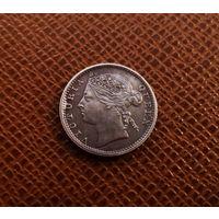 Британский Маврикий 20 центов 1886 (серебро) (2)