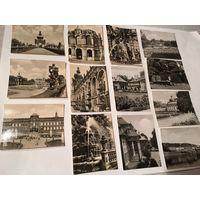 Открытки старинные Германия Дрезден и не только Красивые замки набор 13 открыток