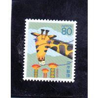 Япония. Японская почта. Жираф.