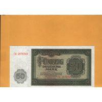 Гдр  50 марок  1948г.  унс