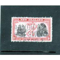 Новая Зеландия. Ми-254.100 лет независимости Новой Зеландии.Кругосветное плавание Капитана Кука и открытие Новой Зеландии в 1769 году.Барк Индевор. 1940.