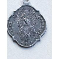 Старинный металический шкаплерный медальон.Matka Boska Milosierdzia.Конец XIX-го,начало XX-го в.в.